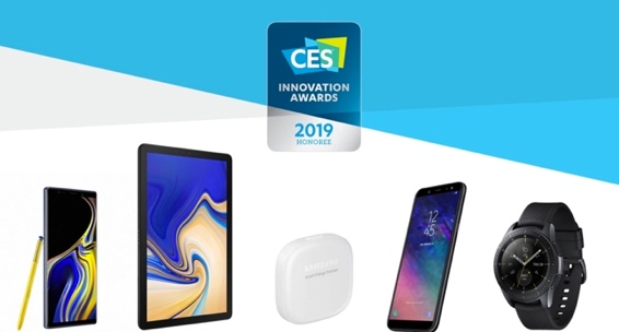 A collection of Samsung's innovative new Galaxy devices for 2019.