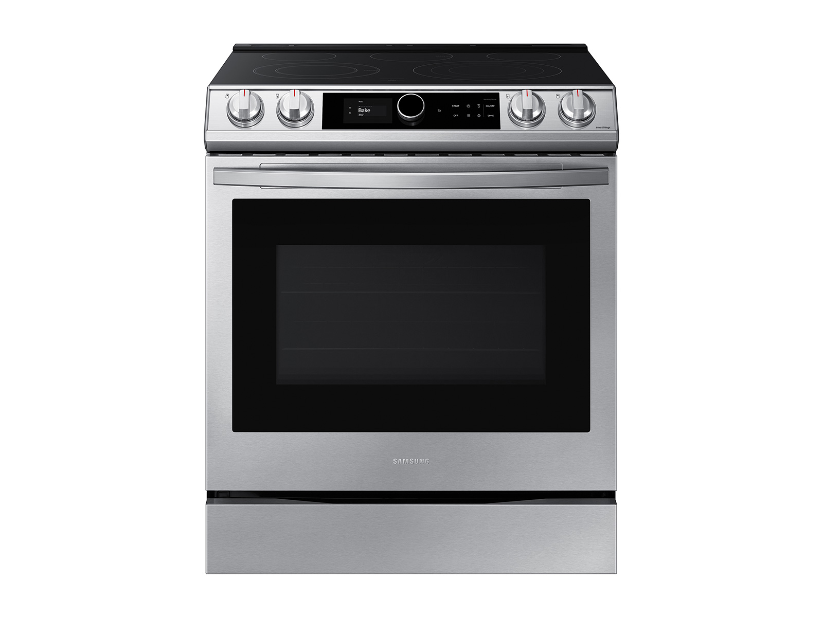 28 cu. ft. Family HubTM 4-door refrigerator, 6.3 cu. ft. electric range, microwave and Smart Linear dishwasher package