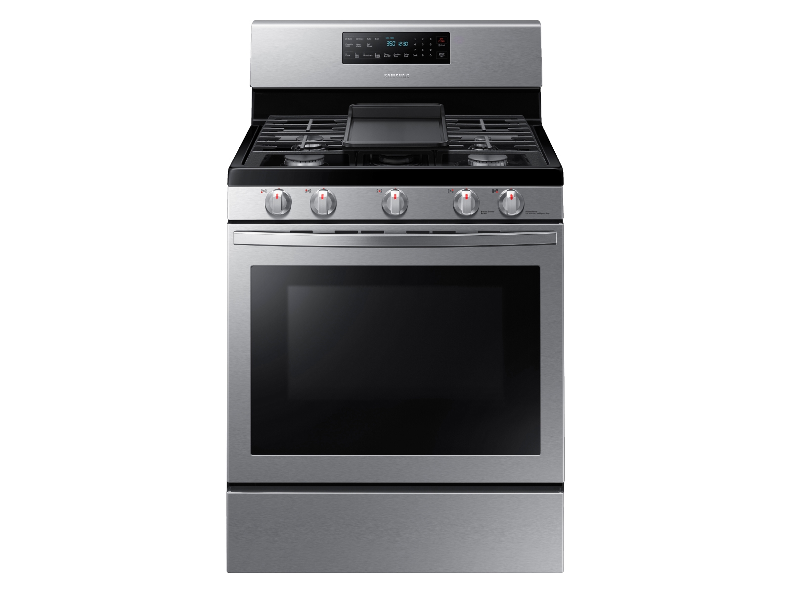Large Capacity 4-door Refrigerator + Gas Range with Convection + StormWash™ Dishwasher + Microwave in Stainless Steel