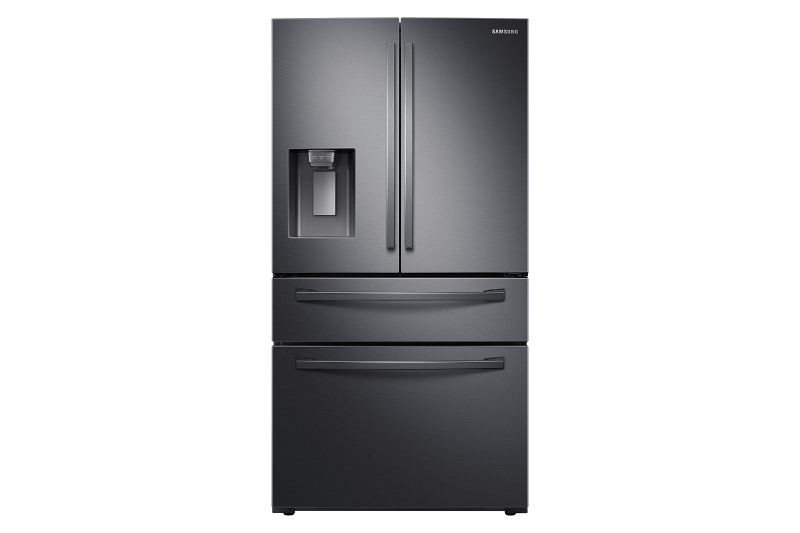 23 cu. ft. counter depth 4-door refrigerator, gas range, microwave and 48 dBA dishwasher package