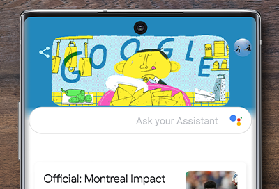 Google Assistant screen on Note10