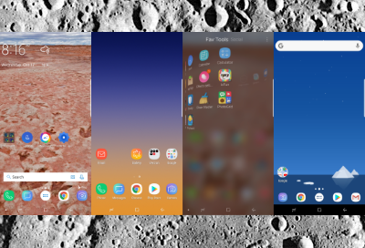 Collection of four different home screens