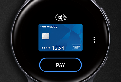 Samsung Pay Card screen on Galaxy Watch Active 2