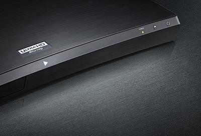 Closeup of a Samsung Blu-ray player